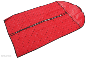 Red Garment Bag With Heart Pattern