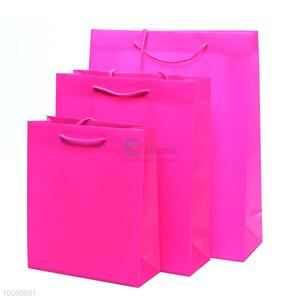 Small size wholesale Pink PP gift bag/shopping bag