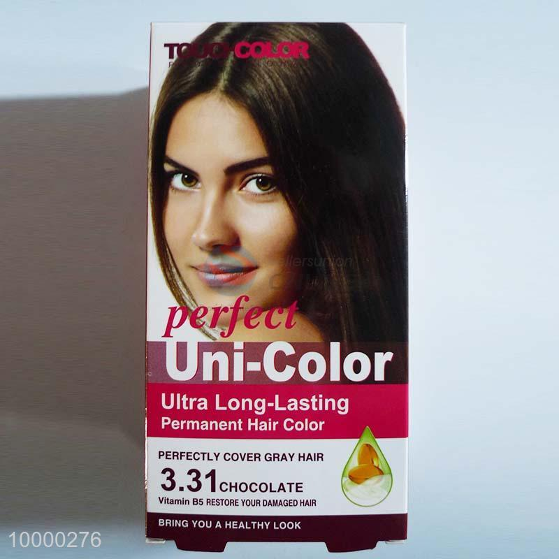 Perfect Uni Color Permanent Hair Dyehair Color Cream Chocolate