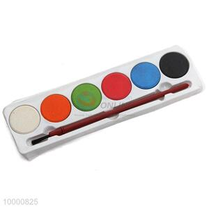 6 colors waterpaint with brush for chilren