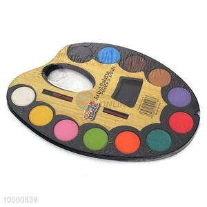 12 colors Large Plastic Artist Palette for Children with Paint Roller Brush