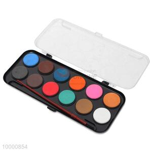 High quality 12 colors waterpaint with brush