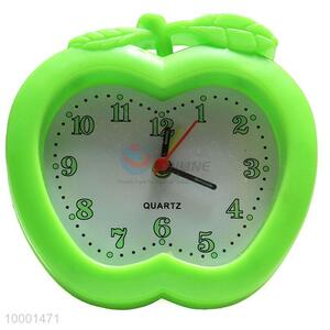 Green apple shape alarm clock