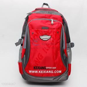Red Travel Cavas Knapsack