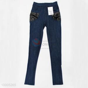 Hot Selling Dark Blue Jeans Leggings