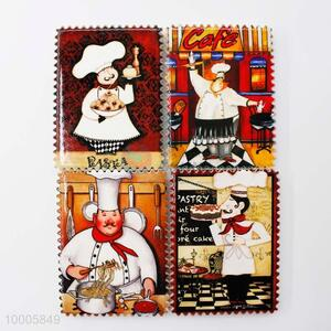 Wholesale Catroon Chef Postage Stamp Shaped Fridge Magnet