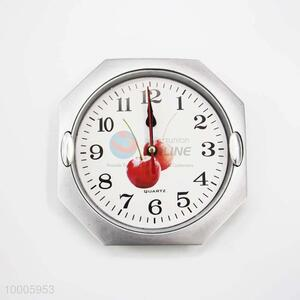 Wholesale Sliver Apple Pattern Plastic Wall Clock
