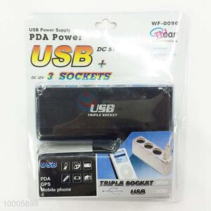 Competitive Price Black 3 In 1 USB Car Charger