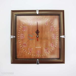 Wholesale Simple Square Plastic Wall Clock Similar With Wood