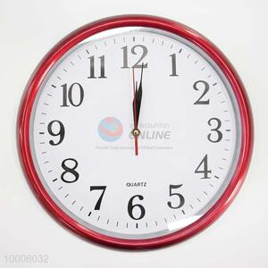 Wholesale Plastic Wall Clock With Red Border