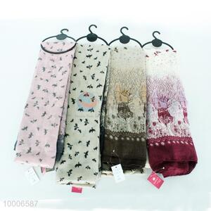 BC Wholesale High Quality Light Color Fashion Silk Scarf For Ladies