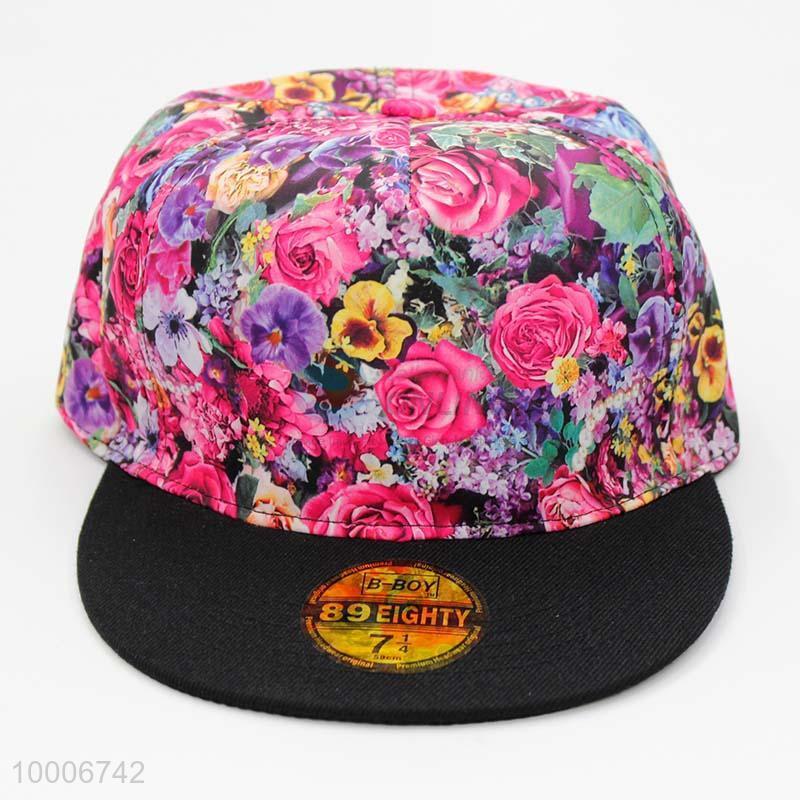 e1914560c7065 New Product Flat Brim Floral Cloth Hiphop Cap - Sellersunion Online