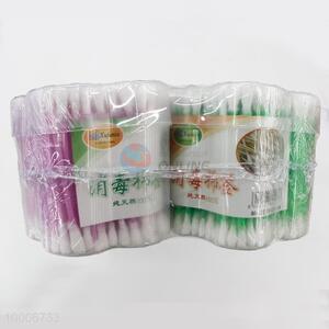 Wholesale Flower Plastic Box Wooden Cotton Swab