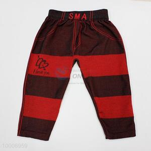 Wholesale Red  Streak Pattern Children Pants