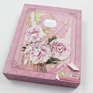 High Quality 100pages Flower Decorated Photo Album