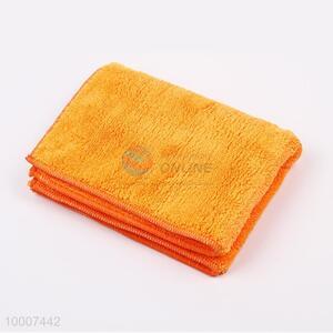 Wholesale Soft Orange Microfibre Coral Fleece Towel For Car Cleaning