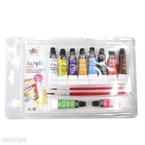 Wholesale 10-color 12ML Bottle Acryl Color Paint Set
