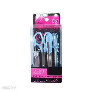 Wholesale High Quality 7PCS Blue Eye-brow Tweezer Set/ Manicure Sets