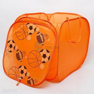 Orange square laundry basket