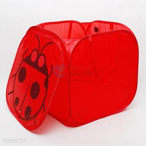 Red square laundry basket