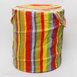 Colorful foldable linen basket