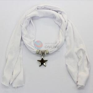 Star ornament pendant scarf