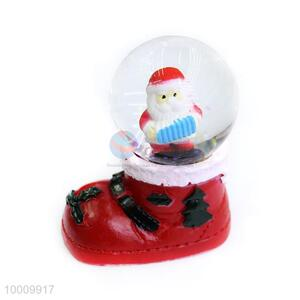 Wholesale Father Christmas Shoes Base Snow Crystal Ball With Light
