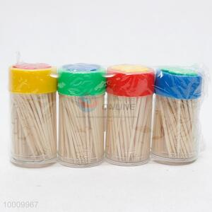 Eco-friendly Bamboo Toothpicks 200 Sticks With 4 Bottles