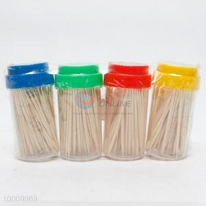 200pcs Bamboo Toothpicks Packed By 4 Bottles