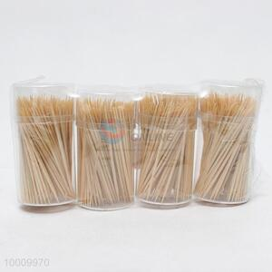 Top Selling 200pcs Bamboo Toothpicks Packed By 4 Bottles