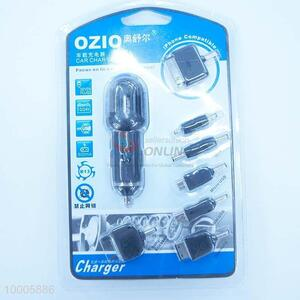 6 In 1 USB Car Charger With V8/M300/Iphone Plug And Colorful Lights