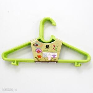 Wholesale Household 28.5CM Green Plastic Clothes Hanger