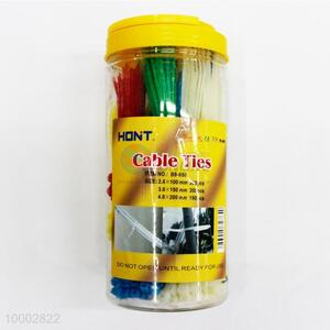 300pcs Cable Ties With Plastic Canister