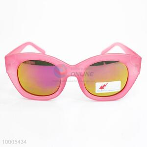 Thick Pink Frame Sunglasses