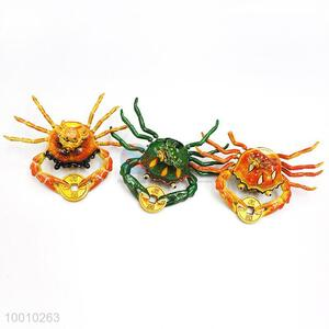 Wholesale Magnetic Orange/Green Crab Plastic Craft For Home Decoration