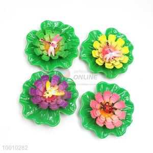 Wholesale Four Color Magnetic Water Lily Plastic Craft For Decoration