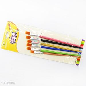 Wholesale Best Sale 6 Pieces Colorful Handle Artist Brush/Drawing Pen Set
