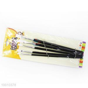 Wholesale 5 Pieces Black Handle Artist Brush/Drawing Pen Set