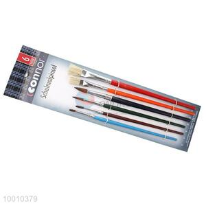 Wholesale 6 Pieces Colorful Handle Artist Brush/Drawing Pen Set