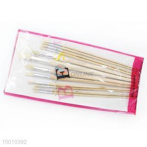 Wholesale 12 Pieces White Handle Artist Brush/Drawing Pen Set