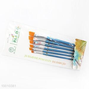 Wholesale 6 Pieces Blue Handle Artist Brush/Drawing Pen Set