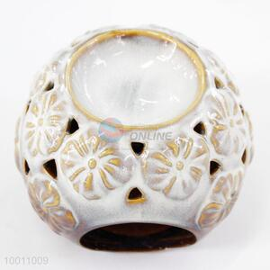 Chic Flower Round Ceramic Incense Burners for Gifts