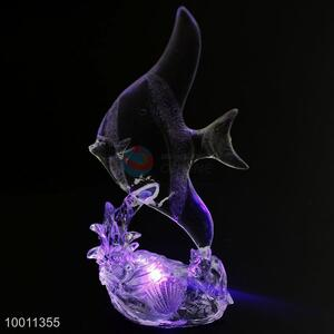 Elegant Fish Clear Acrylic Flashing Artware