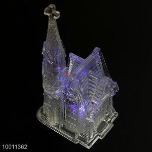 Church Building Shape Clear Acrylic Flashing Artware