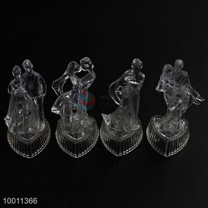 4 Styles 1pc Acrylic Artware Small Couple Shape with Glass Base for Wedding