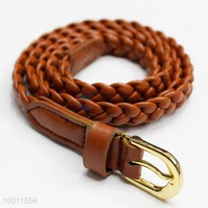 Unique Brown Braided Waistband Belt Strap for Women Girls