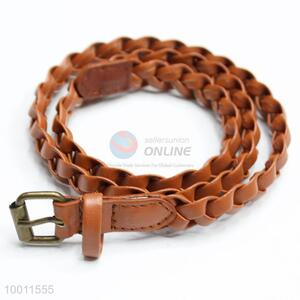 New Designs Dress Waistband Skinny Braided Belt for Women