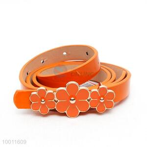 Wholesale Orange Dressy Waist Support Belts With Three Flowers
