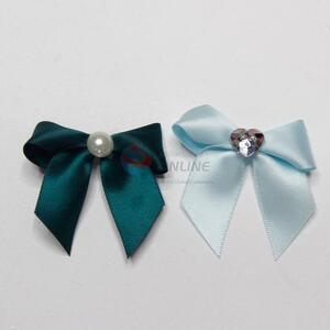 Ployester bowknot with artificial diamond/pearl