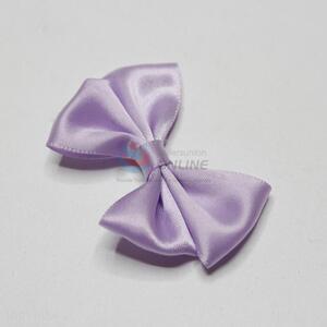 Purple decorative satin bowknot